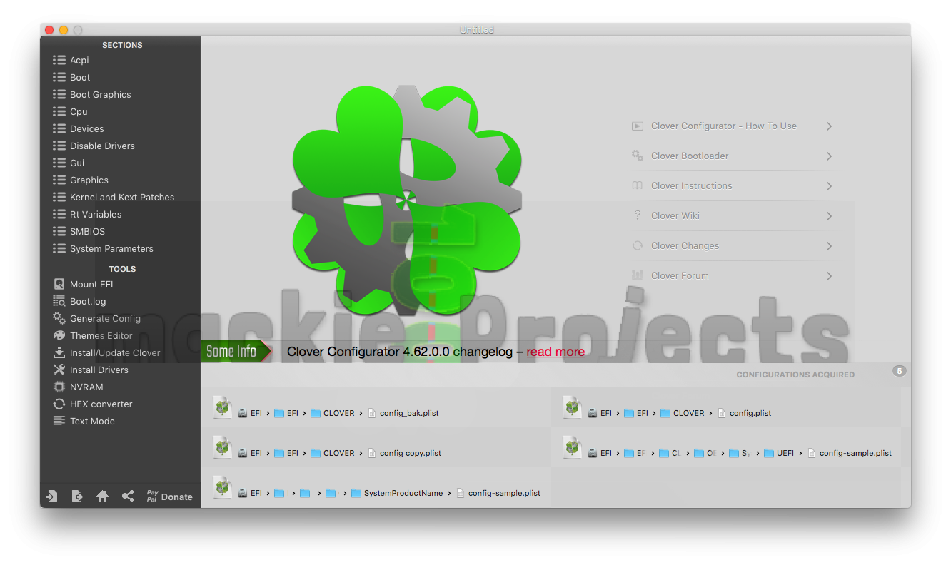 Download Clover Configurator 5 5 0 0 | mackie100 projects