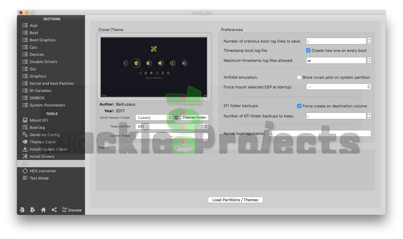 Clover Configurator Screenshot Gallery | mackie100 projects